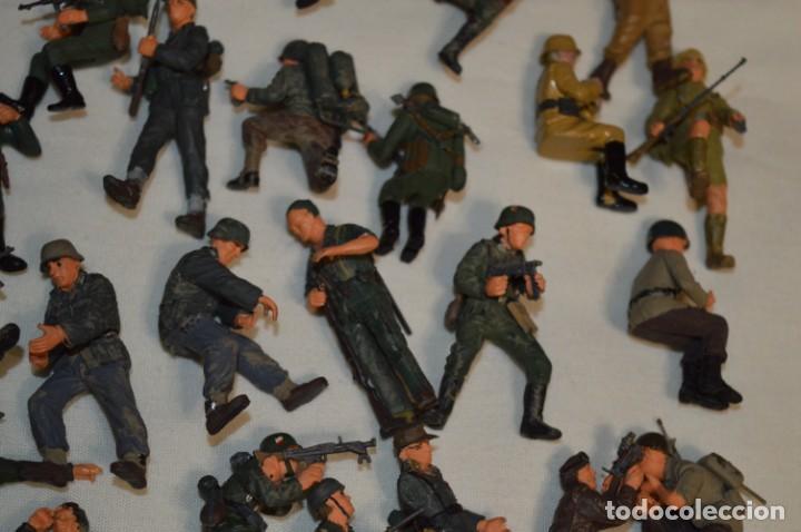 Juguetes Antiguos: Antiguo - Sobre 120 soldados / Diferentes Ejércitos - 2ª Guerra M. - Sobre 5 Cm. de altura - ¡Mira! - Foto 19 - 226344593