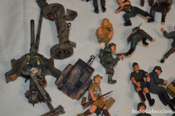 Juguetes Antiguos: Antiguo - Sobre 120 soldados / Diferentes Ejércitos - 2ª Guerra M. - Sobre 5 Cm. de altura - ¡Mira! - Foto 20 - 226344593