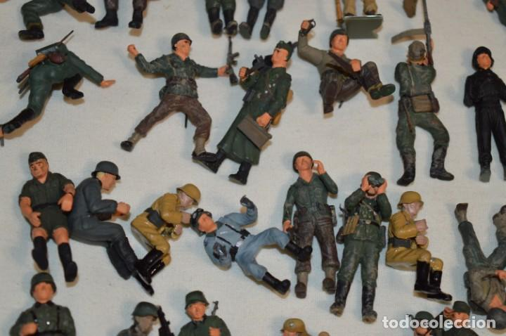 Juguetes Antiguos: Antiguo - Sobre 120 soldados / Diferentes Ejércitos - 2ª Guerra M. - Sobre 5 Cm. de altura - ¡Mira! - Foto 21 - 226344593