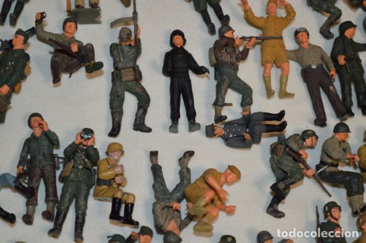 Juguetes Antiguos: Antiguo - Sobre 120 soldados / Diferentes Ejércitos - 2ª Guerra M. - Sobre 5 Cm. de altura - ¡Mira! - Foto 22 - 226344593