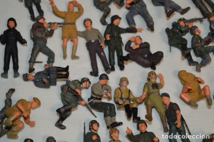 Juguetes Antiguos: Antiguo - Sobre 120 soldados / Diferentes Ejércitos - 2ª Guerra M. - Sobre 5 Cm. de altura - ¡Mira! - Foto 23 - 226344593