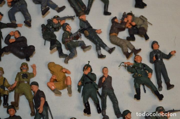 Juguetes Antiguos: Antiguo - Sobre 120 soldados / Diferentes Ejércitos - 2ª Guerra M. - Sobre 5 Cm. de altura - ¡Mira! - Foto 24 - 226344593
