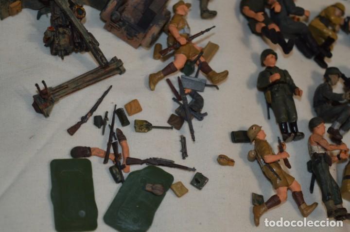 Juguetes Antiguos: Antiguo - Sobre 120 soldados / Diferentes Ejércitos - 2ª Guerra M. - Sobre 5 Cm. de altura - ¡Mira! - Foto 25 - 226344593