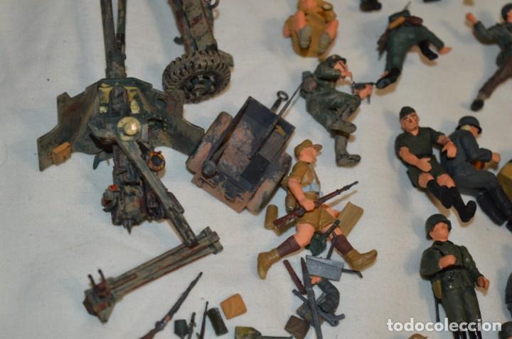 Juguetes Antiguos: Antiguo - Sobre 120 soldados / Diferentes Ejércitos - 2ª Guerra M. - Sobre 5 Cm. de altura - ¡Mira! - Foto 26 - 226344593