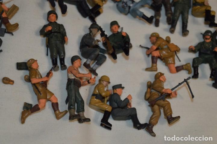 Juguetes Antiguos: Antiguo - Sobre 120 soldados / Diferentes Ejércitos - 2ª Guerra M. - Sobre 5 Cm. de altura - ¡Mira! - Foto 27 - 226344593