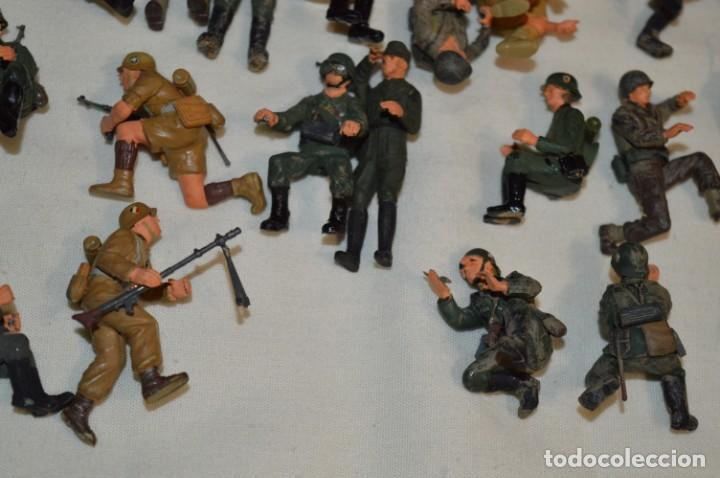 Juguetes Antiguos: Antiguo - Sobre 120 soldados / Diferentes Ejércitos - 2ª Guerra M. - Sobre 5 Cm. de altura - ¡Mira! - Foto 28 - 226344593