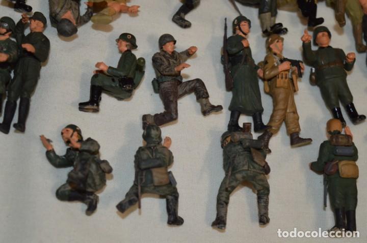 Juguetes Antiguos: Antiguo - Sobre 120 soldados / Diferentes Ejércitos - 2ª Guerra M. - Sobre 5 Cm. de altura - ¡Mira! - Foto 29 - 226344593