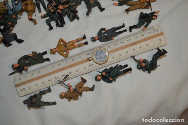 Juguetes Antiguos: Antiguo - Sobre 120 soldados / Diferentes Ejércitos - 2ª Guerra M. - Sobre 5 Cm. de altura - ¡Mira! - Foto 32 - 226344593