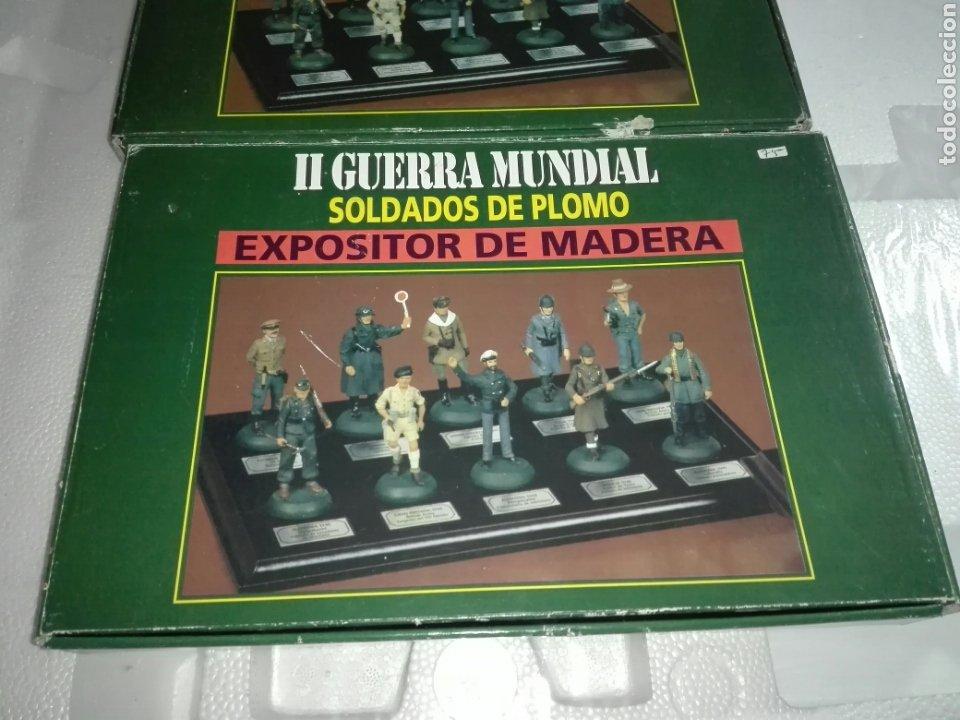 Juguetes Antiguos: 2 EXPOSITORES DE MADERA PARA SOLDADOS DE PLOMO - Foto 7 - 226369120