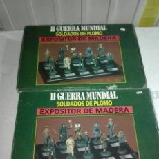 Juguetes Antiguos: 2 EXPOSITORES DE MADERA PARA SOLDADOS DE PLOMO. Lote 226369120