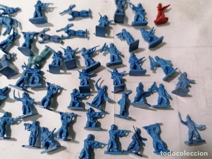 Juguetes Antiguos: 50 SOLDADITOS DE PLASTICO, DIVERSA POSICIONES Y ALTURA, SEGUNDA GUERRA MUNDIAL - Foto 3 - 238686085