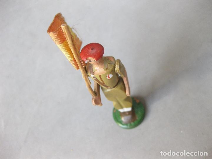 Juguetes Antiguos: SOLDADO DE MADERA FALANGISTA O REQUETÉ. MODELO BAMBINO - Foto 3 - 241245815