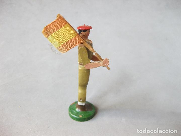 Juguetes Antiguos: SOLDADO DE MADERA FALANGISTA O REQUETÉ. MODELO BAMBINO - Foto 4 - 241245815