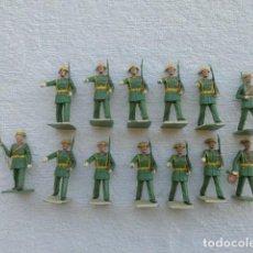 Juguetes Antiguos: SOLDADITOS DE PLÁSTICO GUARDIA CIVIL DE GALA MARCA SOLDIS GOMARSA COMPLETO, NO PLAYME NO MONTAPLEX. Lote 242072760