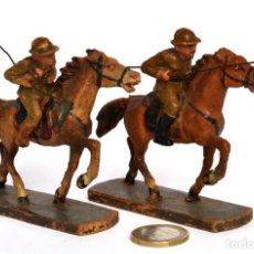 Giochi Antichi: 2 SOLDADOS LANCEROS AMERICANOS A CABALLO WWI, DE ELASTOLIN, MARCA ELASTOLIN, 1920,S, ESCALA 54 MM. Lote 242117455