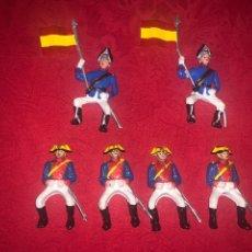 Juguetes Antiguos: SOLDADOS GUARDIA CIVILES Y LANCERAS , 8CM. Lote 245302130