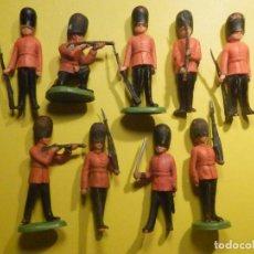 Juguetes Antiguos: COLECCIÓN 9 FIGURITAS - SOLDADOS - BRITAINS LTD . GUARDIA INGLESA -. Lote 249322455
