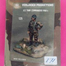 Juguetes Antiguos: U.S. TANK COMMANDER 1980 - VERLINDER PRODUCTIONS - NUEVO, PRECINTADO - PJRB. Lote 262027895