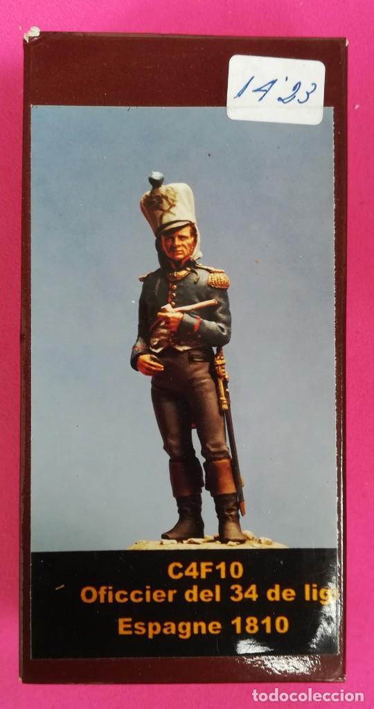OFFICIER DEL 34 - ESPAGNE, 1810 - MINIATURAS EL VIEJO DRAGÓN - NUEVO, EN SU CAJA ORIGINAL - PJRB (Juguetes - Soldaditos - Otros soldaditos)