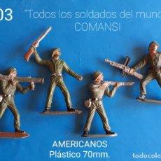 Juguetes Antiguos: JECSAN REAMSA COMANSI PECH - LOTE 403 COMANSI SOLDADOS AMERICANOS. Lote 269067258