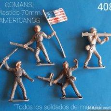 Juguetes Antiguos: JECSAN REAMSA COMANSI PECH - LOTE 408 COMANSI SOLDADOS AMERICANOS. Lote 269067358