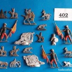 Juguetes Antiguos: ALYMER ALMIRALL CHAUVE BENEITO HEINRISCHEN - LOTE 402 FIGURAS PLOMO ANTIGUAS VARIOS TAMAÑOS. Lote 269070613
