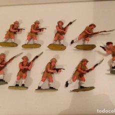 Juguetes Antiguos: SOLDADOS - 9 BRITÁNICOS 8º EJÉRCITO DE 4,5 CM. Lote 285290408
