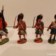 Juguetes Antiguos: SOLDADOS - 4 FIGURAS DE ESCOCESES DE 5,5 CM. Lote 285295968