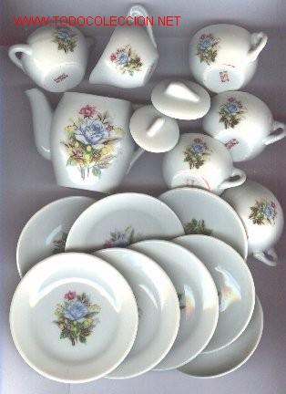 Juguete juego de te porcelana a os 50 60 comprar for Vajillas porcelana clasicas