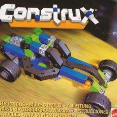 Juguetes antiguos: CONSTRUX, NUMERO 18710, COCHE CARRERAS. Lote 27324499