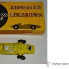 Juguetes antiguos: COCHE DE CARRERAS FERRARI F 1 FABRICO EN ESPAÑA JOUEF COLOR AMARILLO. Lote 38103217