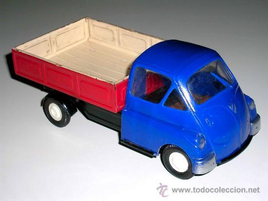 Isetta Iso Carro Bmw 18 5 Cms Plastico Y Lata Comprar Juguetes