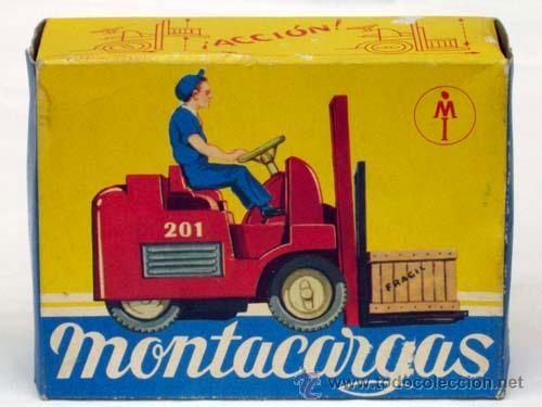 Juguetes antiguos: Montacargas Mecanica Ibense años 60 - Foto 2 - 12188985