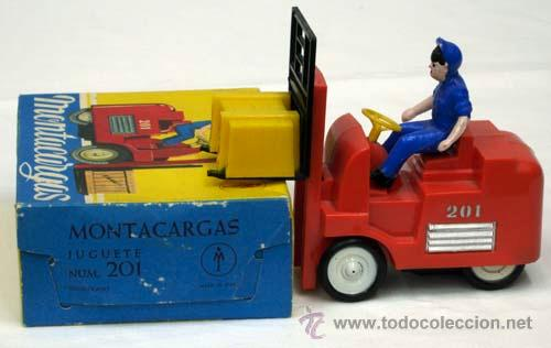 Juguetes antiguos: Montacargas Mecanica Ibense años 60 - Foto 5 - 12188985