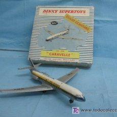 Juguetes antiguos: AVION DE METAL-CARAVELLE-AIR FRANCE-DINKY SUPERTOYS. Lote 18407148