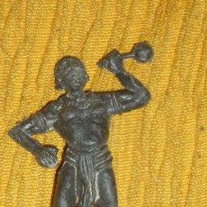 Juguetes antiguos - figura de nativo o negrito muy antigua años 60 70 -7 cmts pech stalux reamsa.lafredo .etc - 33755675