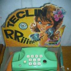 Juguetes antiguos: TELEFONO TECLIN DE RIMA NUEVO EN CAJA. Lote 26935988