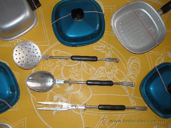 Juguetes antiguos: Menaje cocina en plástico metalizado PSE año 1965 , Sin uso - Foto 2 - 28623942