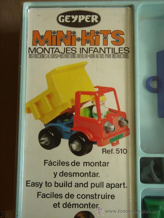 Juguetes antiguos: JUEGO MONTAJE - MINI KITS DE GEYPER REF: 510 CAMION ¡¡NUEVO SIN USO¡¡ MADE SPAIN AÑOS 70 MINIKITS - Foto 4 - 43512009
