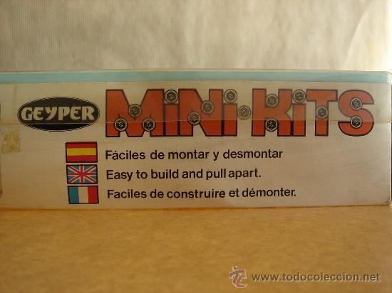 Juguetes antiguos: JUEGO MONTAJE - MINI KITS DE GEYPER REF: 510 CAMION ¡¡NUEVO SIN USO¡¡ MADE SPAIN AÑOS 70 MINIKITS - Foto 6 - 43512009