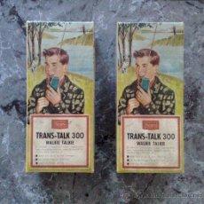 Juguetes antiguos: ANTIGUOS WALKIE TALKIE TRANS TALK -300 SEARS AÑOS 60, VER FOTOS !!!!. Lote 29692549