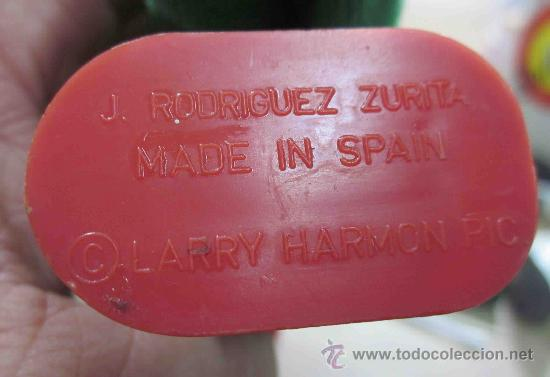 Juguetes antiguos: LAUREL&HARDY(EL GORDO Y EL FLACO),LARRY HARMON,MADE IN SPAIN,A CUERDA,FUNCIONANDO,PPIO AÑOS 60 - Foto 2 - 30042392