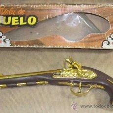 Juguetes antiguos: PISTOLA DE DUELO,GONZÁLEZ,CAJA ORIGINAL,FUNCIONANDO. Lote 30076779