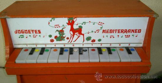 Juguetes antiguos: PIANO JUGUETES MEDITERRANEO - Foto 5 - 30124205