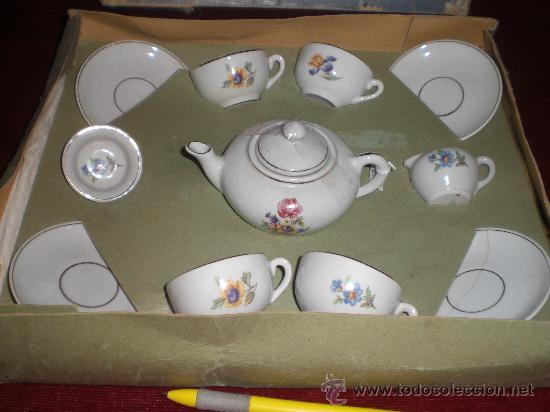 Antiguo Juego De Te De Juguete De Porcelana Chi Comprar Juguetes