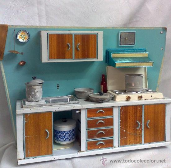 Antigua cocina de juguete con utensilios medid comprar for Utensilios de cocina antiguos con nombres