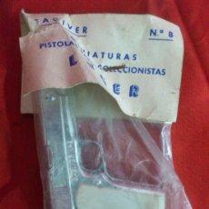 Juguetes antiguos: PISTOLA METÀLICA SAGIVER, MODELO LUGER, PRINCIPIO DE LOS AÑOS 60, SIN USAR. Lote 34200518