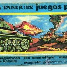 Juguetes antiguos: BATALLA TANQUES JUEGOS POCKET RIMA JUEGO MAGNÉTICO CON CAJA. Lote 34509739