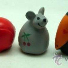 Brinquedos antigos: 5 SACAPUNTAS ANIMALES PLAYME GOMA FLEXIBLE ANIMALITOS FAUNA AÑOS 80. Lote 227193790