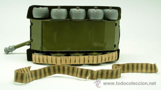 Juguetes antiguos: Tanque Gama 98 a cuerda lanza proyectiles en caja años 50 No funciona - Foto 10 - 35127949
